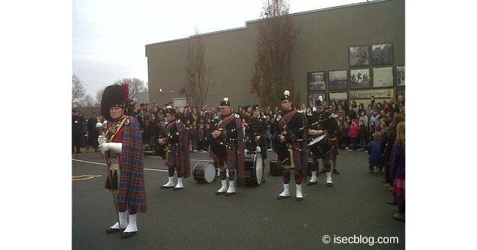 Rememberence Day Zeremonie in Courtenay