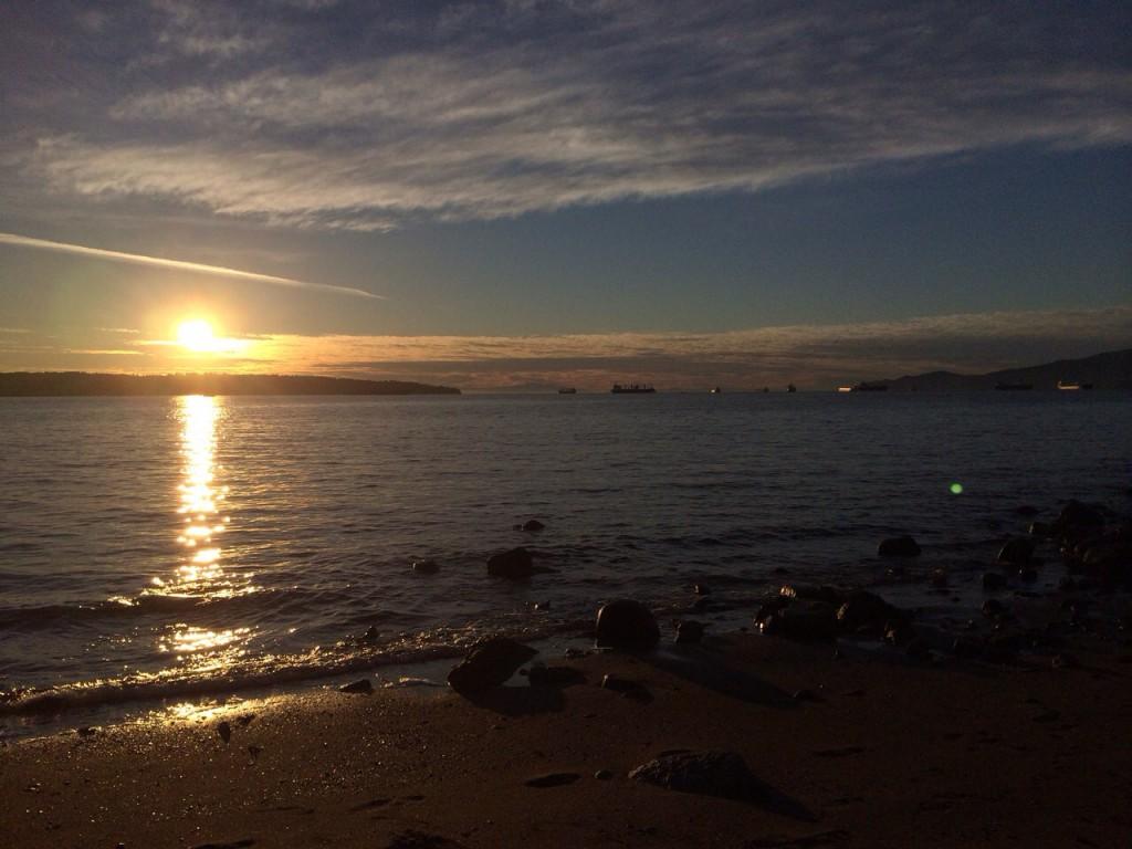 Sonnenuntergang bei English Bay