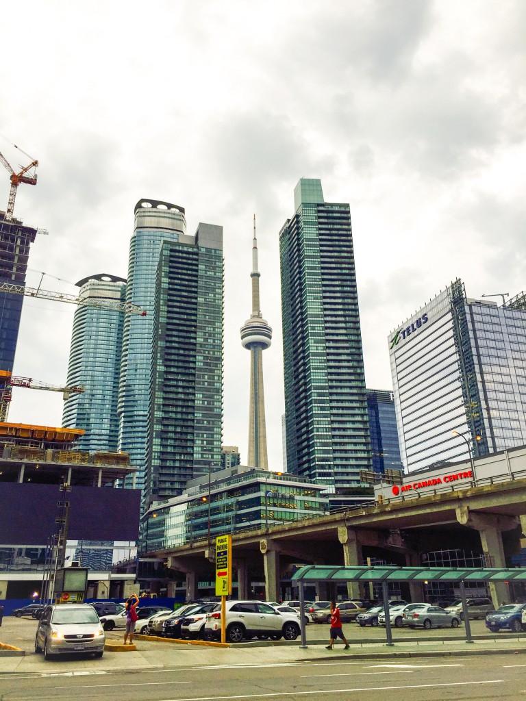 Den CN-Tower kann man von überalll sehen – ein guter Orientierungspunkt