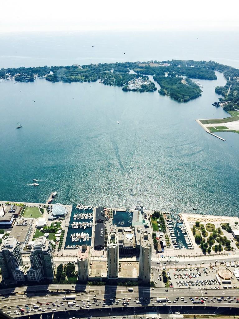Blick vom CN Tower auf die Toronto Islands