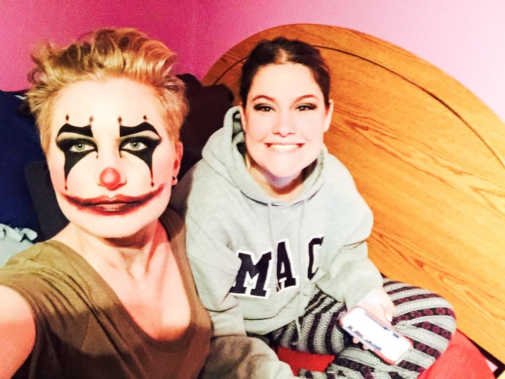 Elysha und ich an Halloween