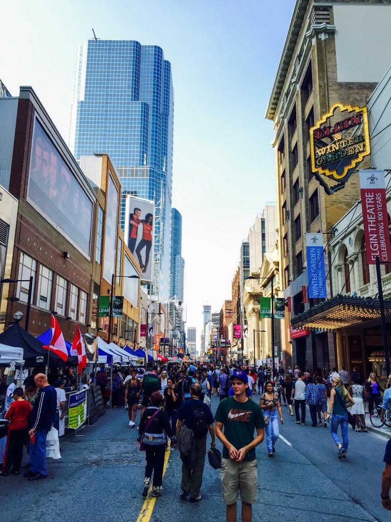 Yonge Street während eines Straßenfestes