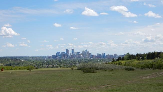 Aussicht vom Hundepark auf Calgary