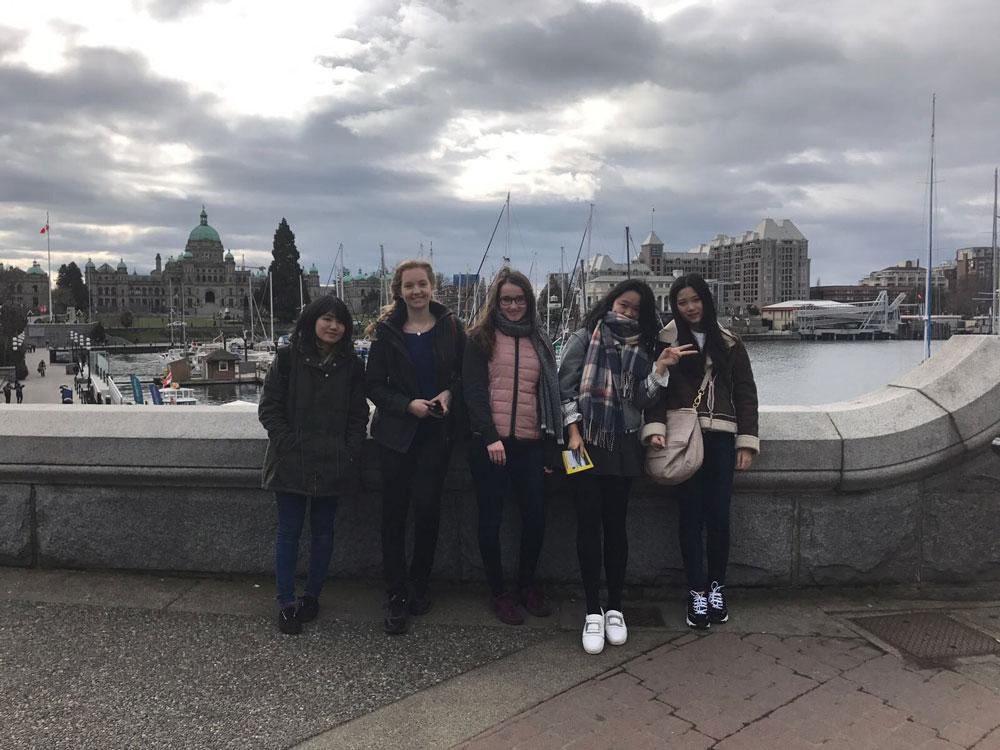 Mit Freunden in Downtown Victoria