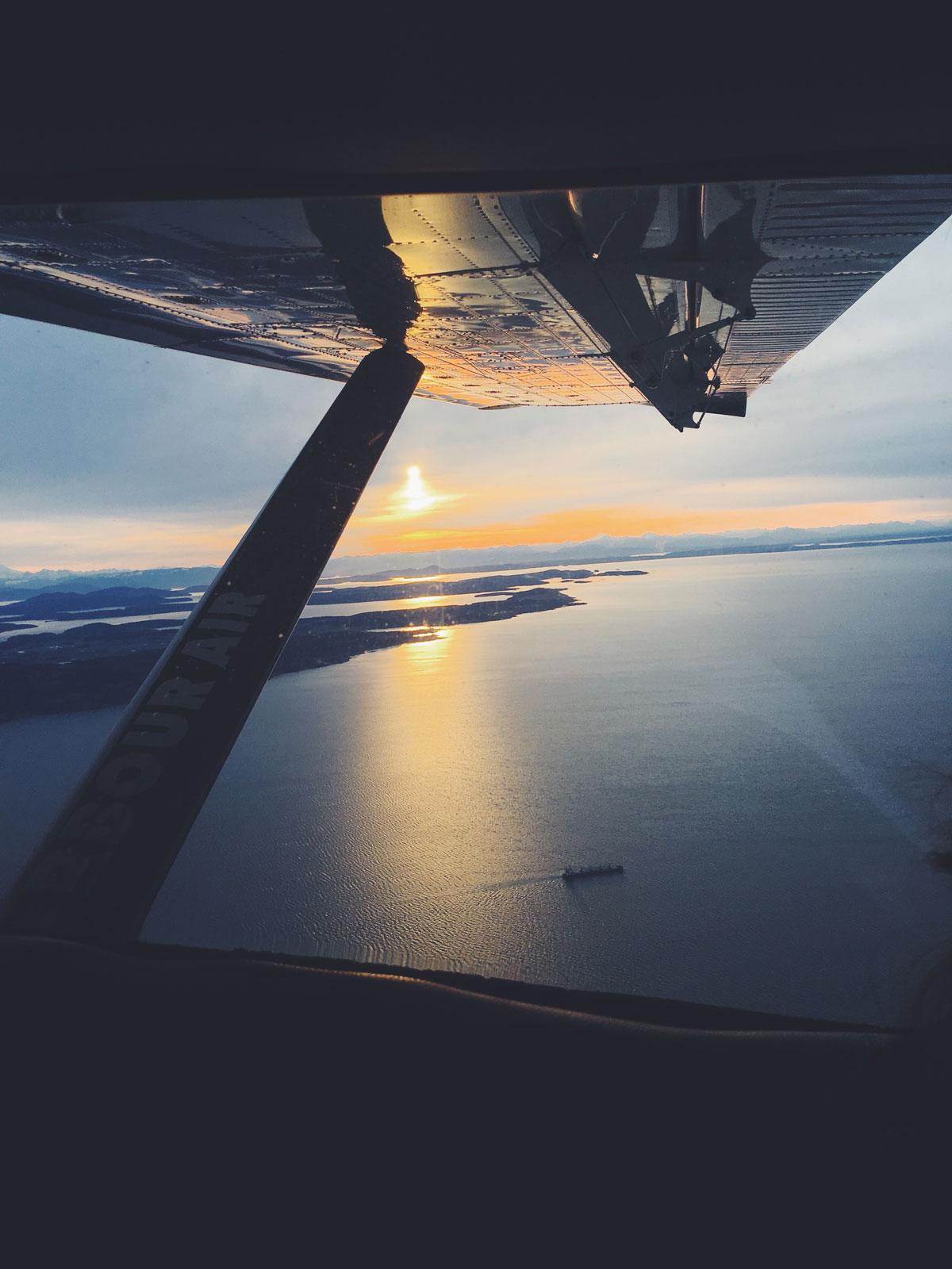 Flug mit einem Wasserflugzeug nach Vancouver