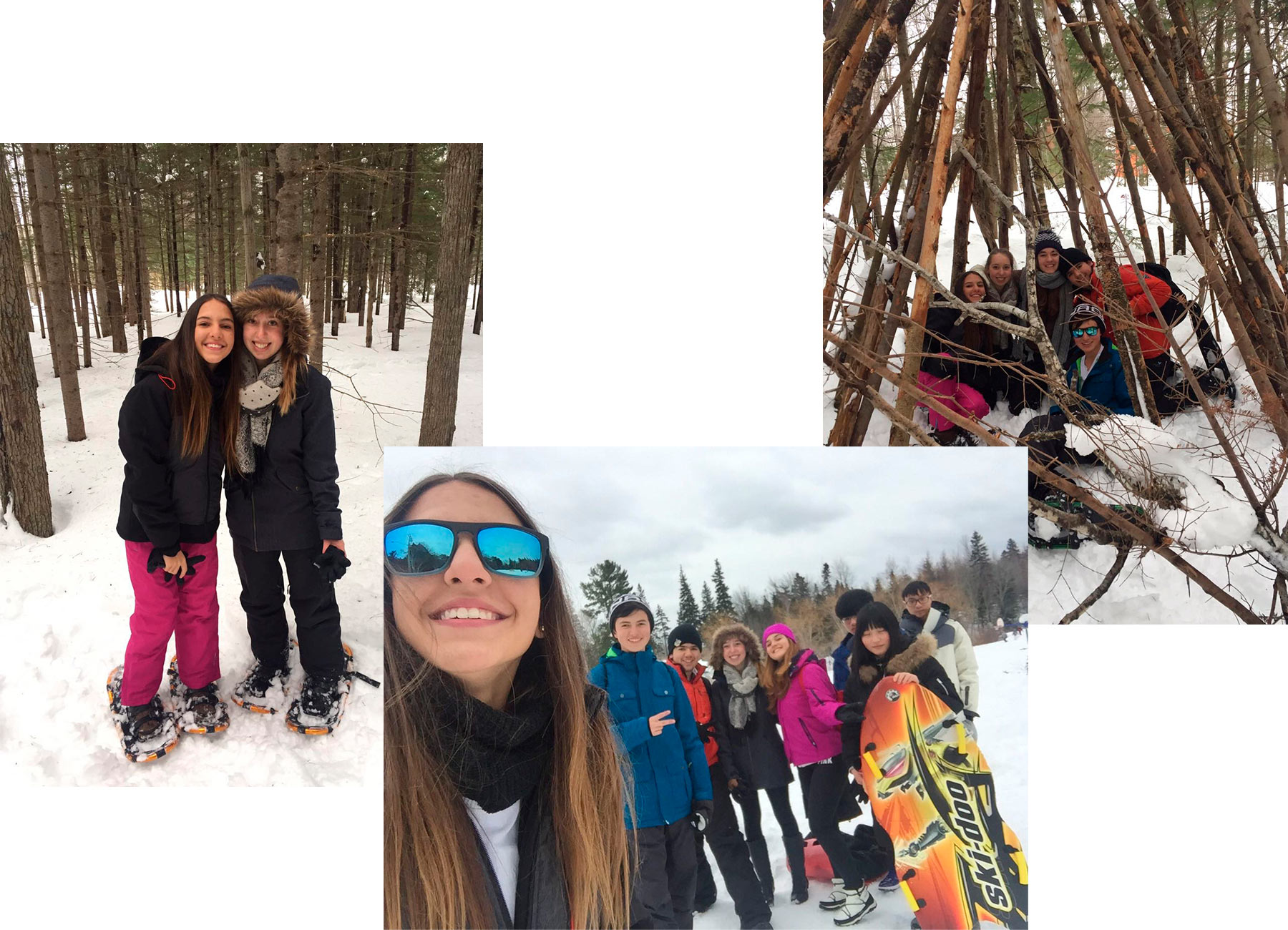 Tag im Schnee mit den Austauschschülern